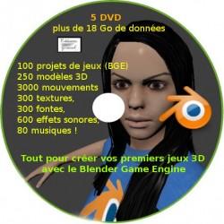 Téléchargement 5 DVD : Ressources Blender pour créer ses propres jeux 3D